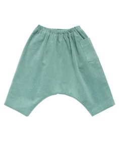 Hughs Baby Trousers, Mint Cord Spotty, 3m