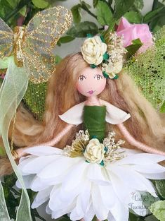 """Image of Willow Flower (7"""" Hanging Fairy)"""