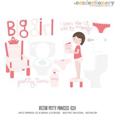 Potty training chart freebie--Blue version available too