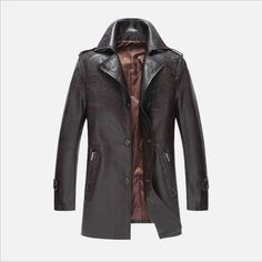 >> Click to Buy << High Quality 2016New Style Brand Luxury Fashion Men's Leather Jacket 3XL Business Casual Leather Jacket Men Coats Jaquetas M-3XL #Affiliate