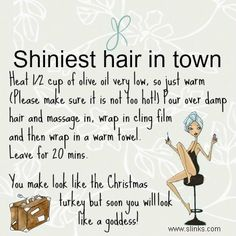 To Get Shiney Hair