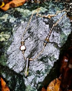 #semiprecious #stone #pearls #citrine  #labradorite #goldfill #oneofakind #necklace