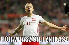 Pojawiasz się i znikasz czyli Kamil Grosicki w meczu Polska Dania • Memy piłkarskie po meczu Polska Dania • Wejdź i zobacz więcej >> #polska #pol #pilkanozna #futbol #sport #memy