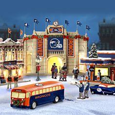 Denver Broncos Christmas Village Collection