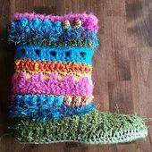 Ravelry: Funky Boots/Slippers Addendum Pattern pattern by Lisa Jelle