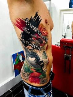 What are your thoughts on this incredible side piece?    By Kobay KronikTattoo in Istanbul, Turkey.