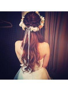 【Felice】花嫁ハーフアップ/HAIR MAKE SALON Felice 【ヘアメイクサロン フェリーチェ】をご紹介。2016年秋冬の最新ヘアスタイルを100万点以上掲載!ミディアム、ショート、ボブなど豊富な条件でヘアスタイル・髪型・アレンジをチェック。