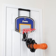 The Automatic Return Indoor Basketball Net - Hammacher Schlemmer. What's better than basketball in the house? Basketball in the house with a hoop that fires the ball back at you like some sort of cannon. Nothing will ever get broken that way. Basketball Shorts Girls, Basketball Games For Kids, Basketball Tricks, Basketball Shoes, Basketball Couples, Basketball Tattoos, Basketball Motivation, Basketball Posters, Basketball Birthday
