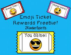 Your students will love these emoji reward tickets! The black and white version can be printed on colored paper to save on ink! Look for our Seasonal Emoji Reward Tickets coming soon!