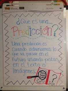 Prediction anchor chat in Spanish. Great for bilingual teachers!!
