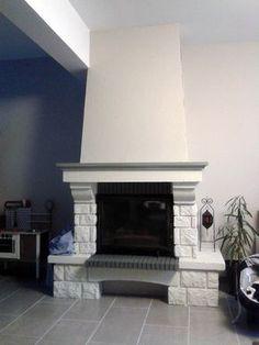chemin e briques repeinte idee deco en 2018. Black Bedroom Furniture Sets. Home Design Ideas