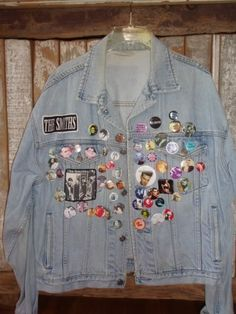 jean jacket with pins - was so cool
