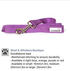 Dog lead by Doodlebone from Woof & Whiskers Boutique