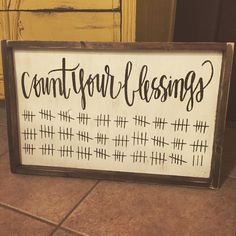 Count Your Blessings - Hand Painted - JaxnBlvd