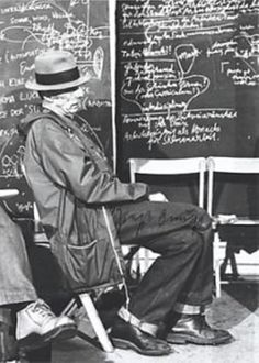 A day with...a chalk   Joseph Beuys teaching