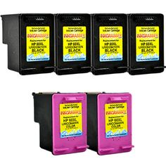 InkGrabber.com 6 PACK COMBO - Remanufactured HP Inkjet Cartridges (Four HP 60XL Black and Two HP 60XL Color) Replaces part# CC641WN, CC644WN (HP DeskJet D1660, HP DeskJet D2530, HP DeskJet D2545, HP DeskJet D2560, HP DeskJet D2660, HP DeskJet D2680, HP DeskJet F2430, HP DeskJet F2480, HP DeskJet F4210, HP DeskJet F4230, HP DeskJet F4235, HP DeskJet F4240, HP DeskJet F4250, HP DeskJet F4272, HP DeskJet F4273, HP DeskJet F4274, HP DeskJet F4275, HP DeskJet F4280, HP DeskJet F4283, HP DeskJet…