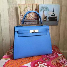 5159009d30c hermes kelly sellier epsom leather blue paradise Whatsapp  +852 5161 9028  Instagram   hermazltd ...