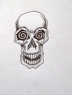 simple skull tattoo - HD1296×1728