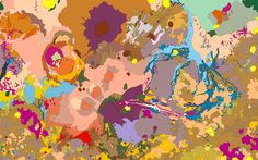 These images may look like colorful abstract artwork, but they are in fact maps of the planets, moons and asteroids in our solar system created from information collected by spacecraft and telescopes. The different colors correspond to different structures and features such as basins, craters, mountains, and plains. via the telegraph and i09