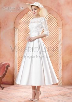 Tea Length Wedding Dress Valerie Luna by HigarNovias