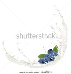 Berries In Milk Splash Stockfoto's, afbeeldingen & plaatjes   Shutterstock