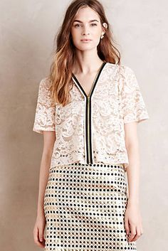 Zipped Lace Topper