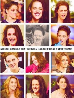 Pinning this just for all the people who say she can't smile; Kristen Stewart has plenty of facial expressions!