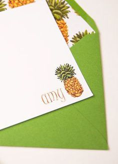 Personalized Stationery Set  6 Green