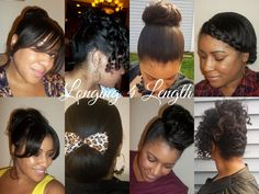 Protective hairstyles for relaxed hair...works just as well for natural hair that's been flat ironed :D