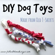 DIY No-Sew Recycled T-Shirt Dog Toys {Felt With Love Designs}