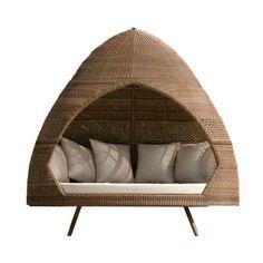 San Marino Rattan Relax Hut With Cushions