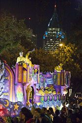 Nearby Mobile, Ala. is recognized for the first-known American Mardi Gras celebration in 1703 (even before New Orleans) that now lasts more than 2 1/2 weeks.
