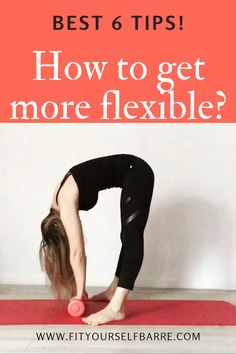 From feeling stiff to wanting to be able to do the middle split, whatever your reasons, you can get more flexible at any age! Here are 6 best tips to help you reach your goals. How To Do Gymnastics, Gymnastics For Beginners, Gymnastics Tricks, Gymnastics Workout, Gymnastics Stretches, Dancer Stretches, Splits Stretches For Beginners, Stretching Exercises For Flexibility, Back Flexibility Stretches