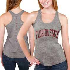 Florida State Seminoles Womens Breaking Hearts Tri-Blend Racerback Tank Top – Gray - $19.99
