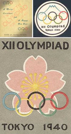 Beautiful posters from the canceled 1940 Olympic games in Japan.
