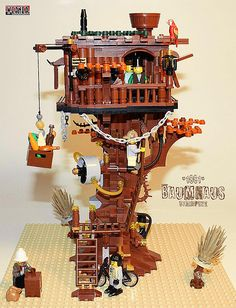 Here is a unique one for you - #LEGO #Steampunk Treehouse. BPB.