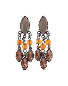 Ohrringe mit Stecker von Konplott -Earth and Glamour-Antikkupfer.Größe:4,5 cm Ref.5450543311067