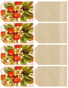 Free Printable Vintage Strawberry Tags (Use just the lined side or both if you like strawberries) Digital Scrapbooking Freebies, Digital Scrapbook Paper, Free Printable Tags, Free Printables, Printable Vintage, Printable Paper, Strawberry Fields, Strawberry Shortcake, Card Sentiments