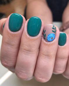 41 Trendy Nails Ideas Teal Art Designs 41 Trendy N Fancy Nails, Trendy Nails, Diy Nagellack, Classy Nail Art, Flower Nail Designs, Fall Toe Nail Designs, Teal Nail Designs, Toenail Art Designs, Nagel Gel