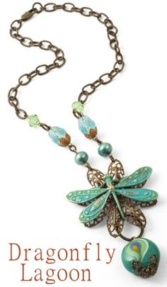 Apply multiple colors from the Weathered Copper patina set to the wings of our Ornate Dragonfly to create a beautiful color blocked effect. You can also add a little contrast to your design with the Rusted Hardware patina set by applying color to Foliage Bead Caps.