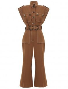Zimmermann Zippy Safari Jumpsuit from Spring 19 Ready-to-Wear Safari Dress, Cropped Flare Pants, Designer Jumpsuits, All White Outfit, Kpop Outfits, 1950s Fashion, Playsuits, Simple Dresses, Jumpsuits For Women
