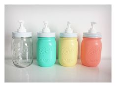 Mason Jar Lotion & Soap Dispenser by ColourandTwine on Etsy, $15.00
