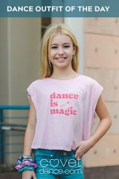 Dance is Magic - Cropped Tank Cute Graphic Tees, Tiny Dancer, Alternative Outfits, Girl Dancing, Raw Edge, Beautiful Smile, Dance Outfits, Crop Tank, My T Shirt