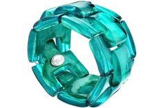 Bracelet Summer Sunshine en résine, élastique, menthe, Ø55mm Dominique Denaive