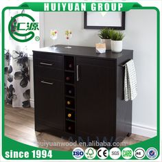 2017 China wooden floor standing wine rack insert wine cabinet with drawer