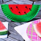 Watermelon Paper Plate Art