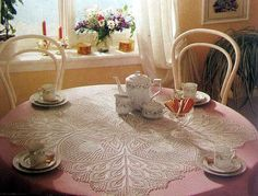 Square table cloth w/charts