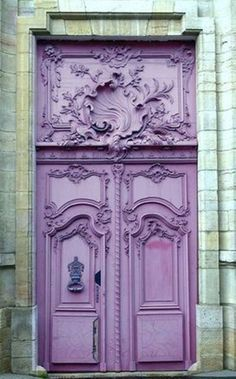 Cool Doors, Unique Doors, Windows And Doors, The Doors, Gates, Art Nouveau, Porte Cochere, Purple Door, When One Door Closes