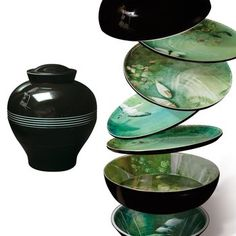 Yuan Vase / Stackable Bowls.