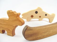 organic wooden baby teether toys